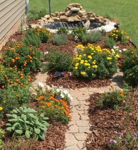 flower and herb garden